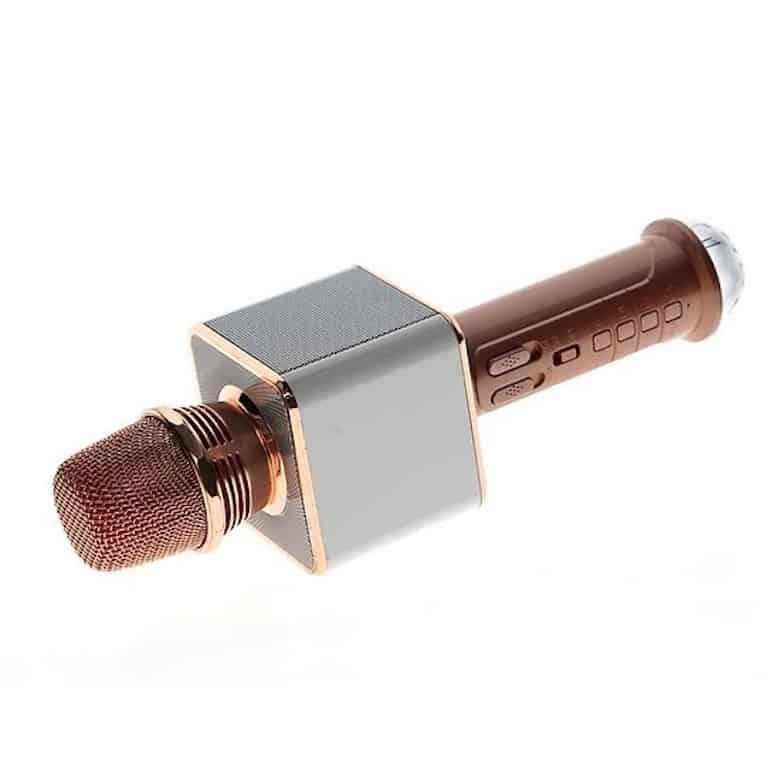 Mic Karaoke Bluetooth SD-09L - Led Nháy Theo Nhạc - Có Khe Cắm Thẻ Nhớ