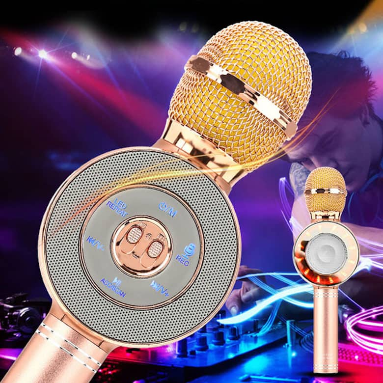 Micro hát karaoke WS668 mic hát karaoke kiêm loa bluetooth ( Ngẫu nhiên )