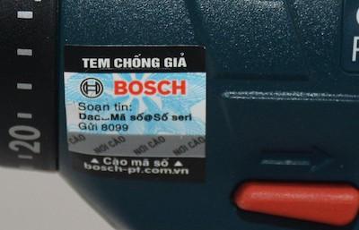 Tem chống hàng giả Bosch