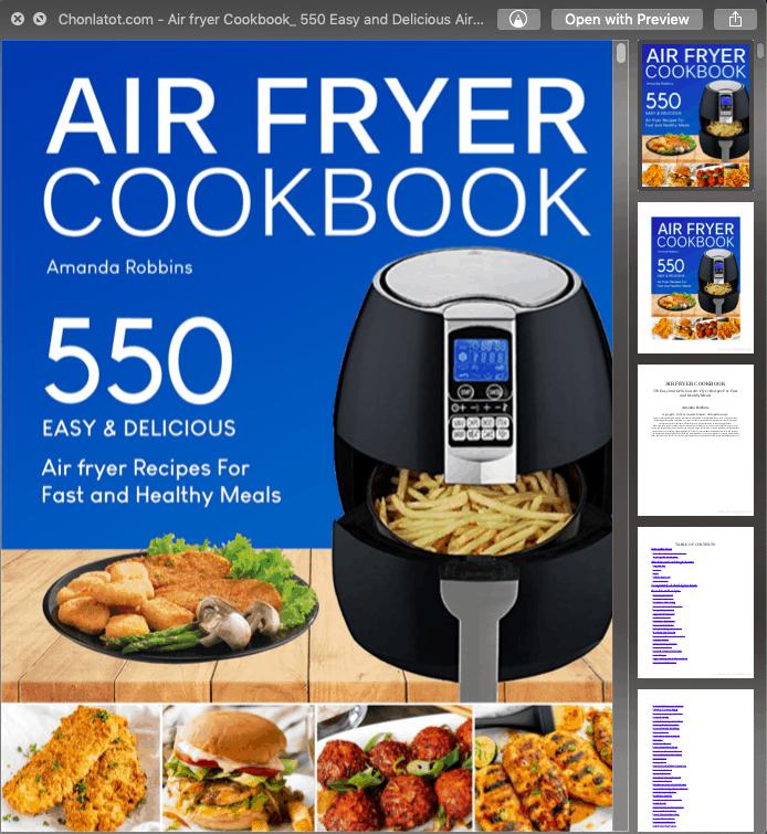 Ebook 550 món làm từ nồi chiên không dầu