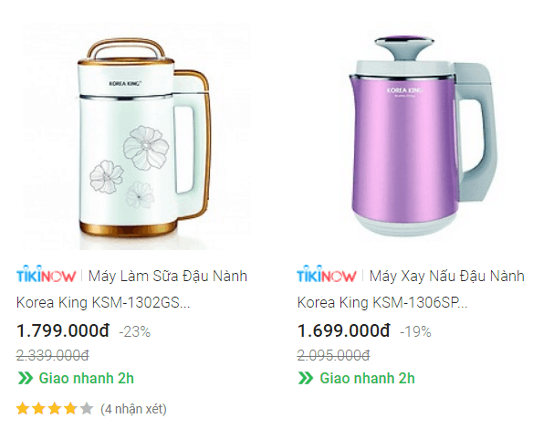 Top 2 Máy làm sữa hạt Korea King