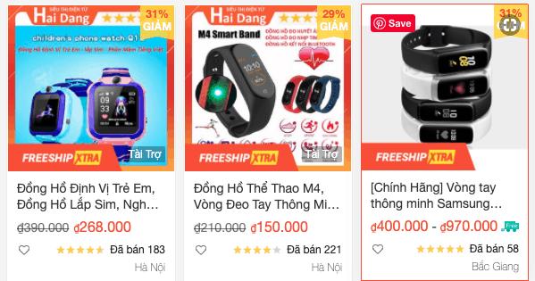 Vòng đeo tay thông minh bán chạy nhất