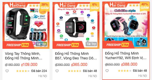 Vòng đeo tay thông minh giá dưới 500k