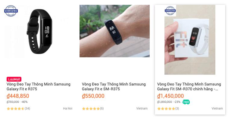 Vòng đeo tay thông minh Samsung